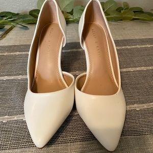 Kelly and Katie White Pumps